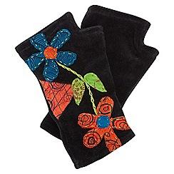 Joe Browns - Black funky applique hand warmers
