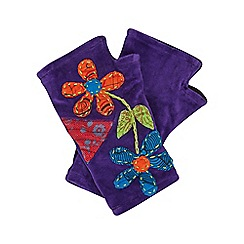 Joe Browns - Purple funky applique hand warmers