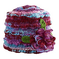 Joe Browns - Purple amazing corsage knitted hat