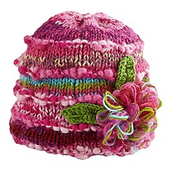 Joe Browns - Pink amazing corsage knitted hat