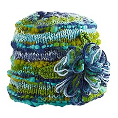 Joe Browns - Turquoise amazing corsage knitted hat