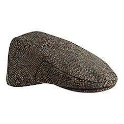 Joe Browns - Green harris tweed flat cap