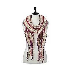 Joe Browns - Pink fun and funky ladder knit scarf