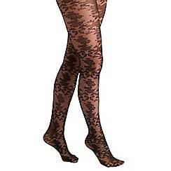 Joe Browns - Black baroque lace tights