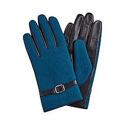 Joe Browns - Dark turquoise stunning harris tweed gloves