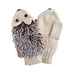 Joe Browns - Cream fun and funky hedgehog mittens