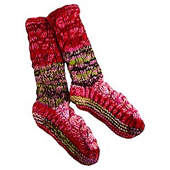 Joe Browns - Pink chunky wool socks