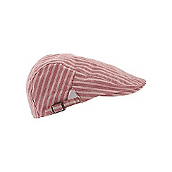 Joe Browns - Red laid back summer flat cap