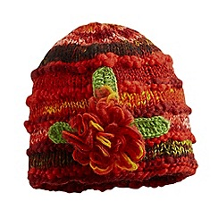 Joe Browns - Red wool mix corsage hat