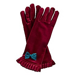 Joe Browns - Red vintage boutique velvet gloves