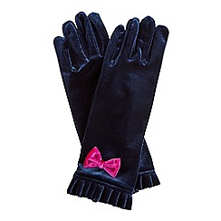 Joe Browns - Blue vintage boutique velvet gloves