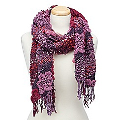 Joe Browns - Purple funky and fun bouncy scarf