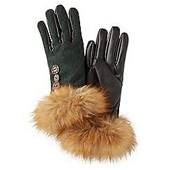 Joe Browns - Green remarkable button gloves