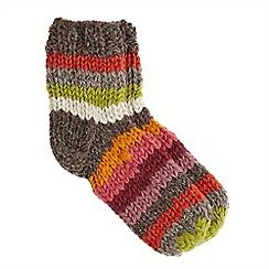 Joe Browns - Multi coloured stripey slouch socks