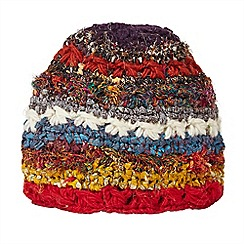 Joe Browns - Multi coloured funky mixed knit hat