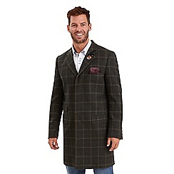 Joe Browns - Dark olive check me out overcoat