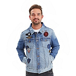 Joe Browns - Blue badged up denim jacket