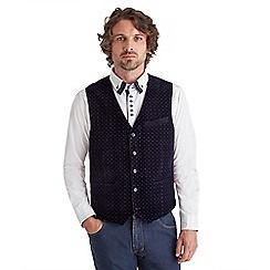 Joe Browns - Navy stand out velvet waistcoat