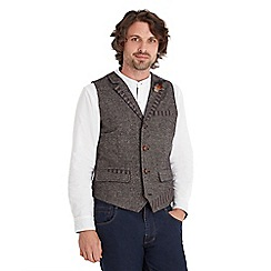 Joe Browns - Brown twist of tweed waistcoat