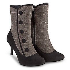 Joe Browns - Black suedette high stiletto heel ankle boots