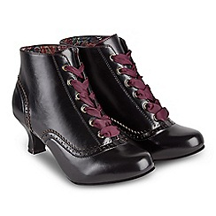 Joe Browns - Black 'Very Vintage' mid kitten heel ankle boots