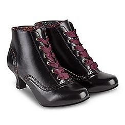 Joe Browns - Black 'Very Vintage' mid kitten heel ankle boots