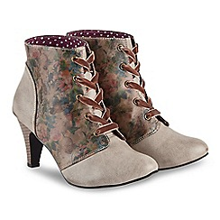Joe Browns - Tan high stiletto heel lace up ankle boots