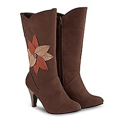 Joe Browns - Brown 'Into The Woods' high stiletto heel calf boots