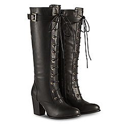 Joe Browns - Black high block heel knee high boots