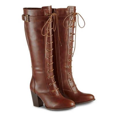 Joe Browns Brown High Block Heel Knee High Boots Debenhams