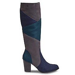 Joe Browns - Multi coloured high block heel knee high boots