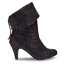 Joe Browns - Black suedette high stiletto heel calf boots