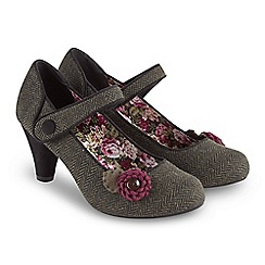 Joe Browns - Green mid kitten heel court shoes