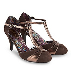Joe Browns - Chocolate 'Gatsby' high stiletto heel t-bar shoes