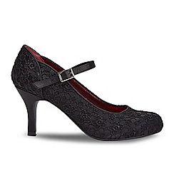 Joe Browns - Black lace beaded high stiletto heel court shoes