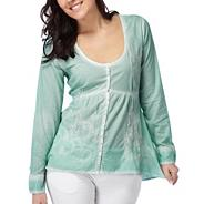Pale green coconut grove shirt