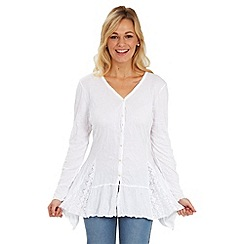 Joe Browns - White versatile crinkle blouse