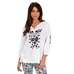 Joe Browns - White creative kaftan blouse