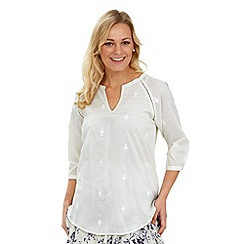 Joe Browns - Off white laid back prairie blouse