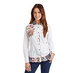Joe Browns - White amazing applique shirt