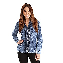 Joe Browns - Blue ruffle blouse