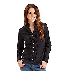 Joe Browns - Black ruffle blouse