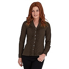 Joe Browns - Chocolate ruffle blouse