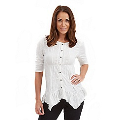 Joe Browns - White crinkle jersey blouse