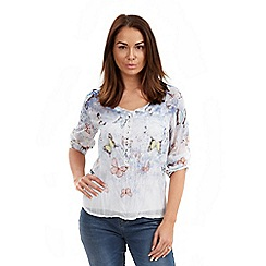 Joe Browns - Multi coloured butterfly 2 piece blouse