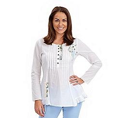 Joe Browns - White very vintage applique blouse
