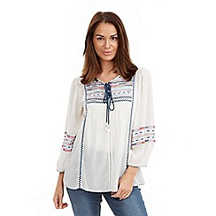 Joe Browns - White chill out gypsy blouse