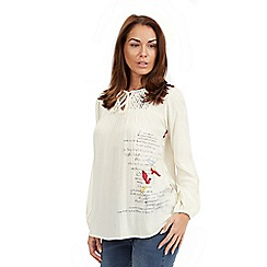Joe Browns - Cream prairie blouse