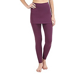 Joe Browns - Purple essential 2 in 1 leggings