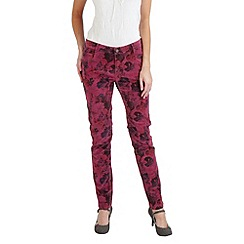 Joe Browns - Red fabulous floral velvet trousers